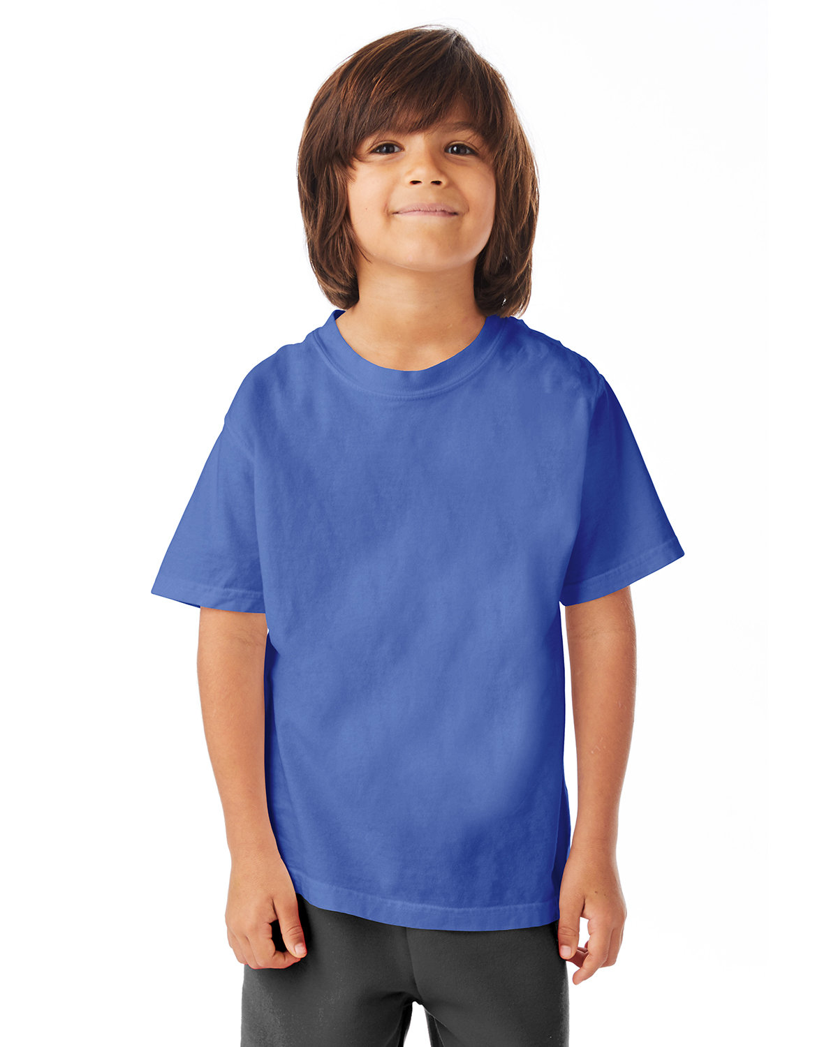 ComfortWash by Hanes Youth Garment-Dyed T-Shirt DEEP FORTE BLUE