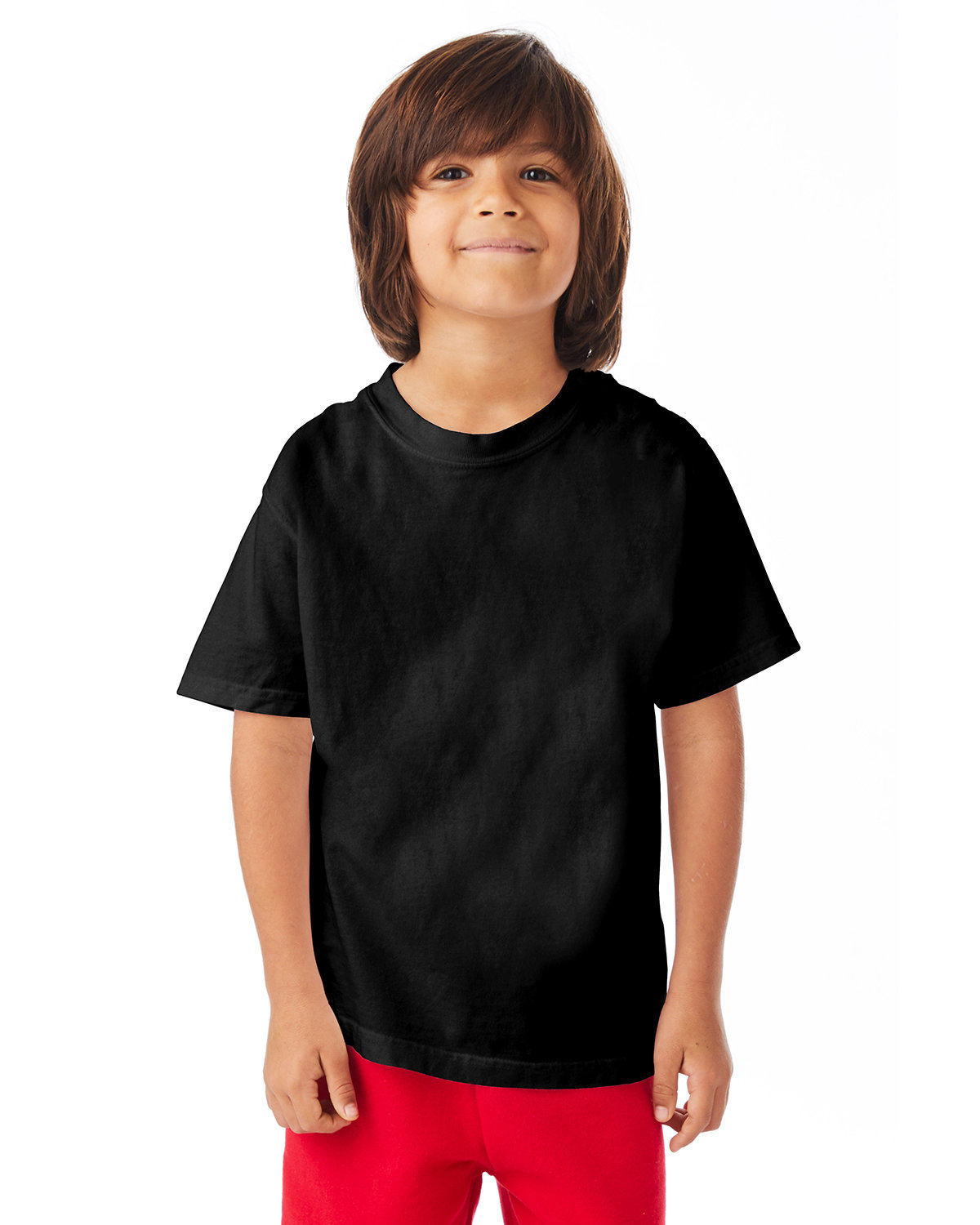 ComfortWash by Hanes Youth Garment-Dyed T-Shirt BLACK