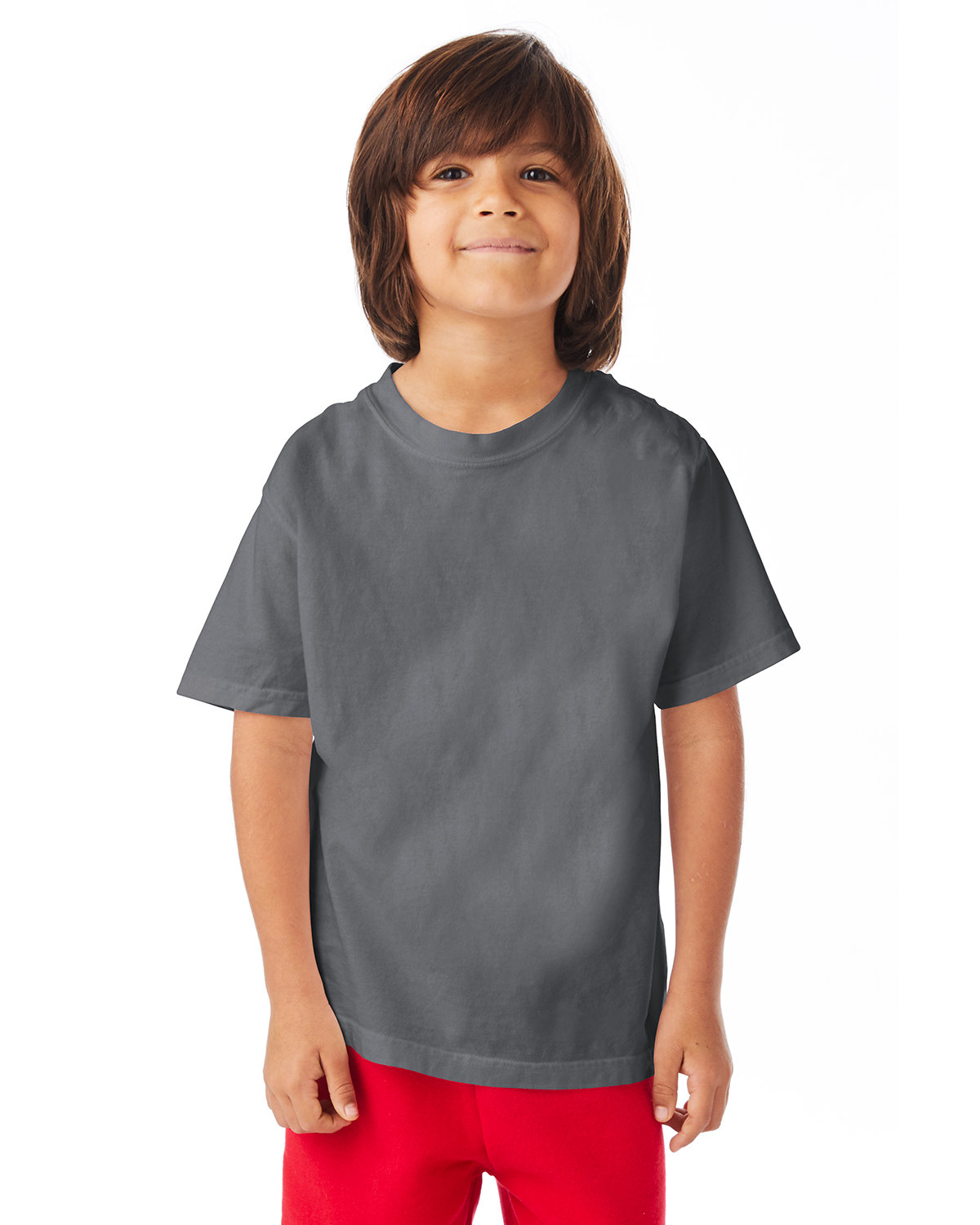 ComfortWash by Hanes Youth Garment-Dyed T-Shirt CONCRETE GRAY