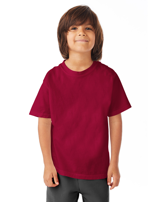 ComfortWash by Hanes Youth Garment-Dyed T-Shirt CRIMSON FALL