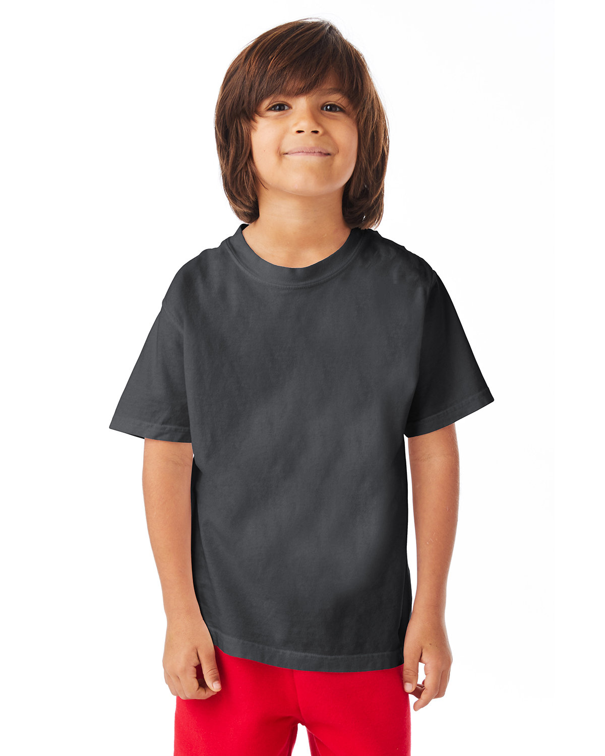 ComfortWash by Hanes Youth Garment-Dyed T-Shirt NEW RAILROAD GRY