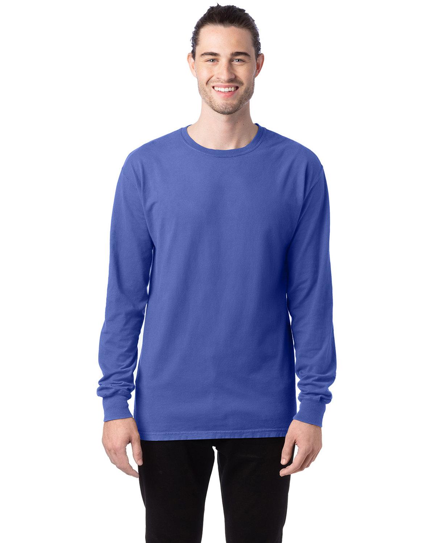 ComfortWash by Hanes Unisex 5.5 oz., 100% Ringspun Cotton Garment-Dyed Long-Sleeve T-Shirt DEEP FORTE
