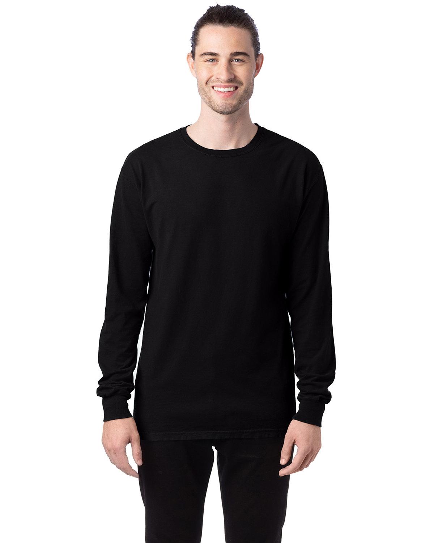 ComfortWash by Hanes Unisex 5.5 oz., 100% Ringspun Cotton Garment-Dyed Long-Sleeve T-Shirt BLACK