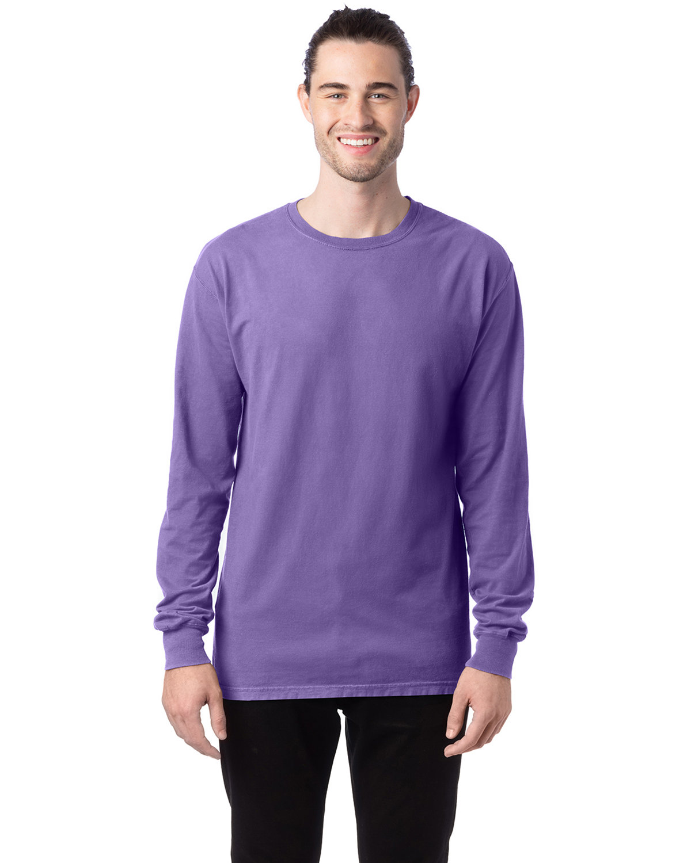 ComfortWash by Hanes Unisex 5.5 oz., 100% Ringspun Cotton Garment-Dyed Long-Sleeve T-Shirt LAVENDER