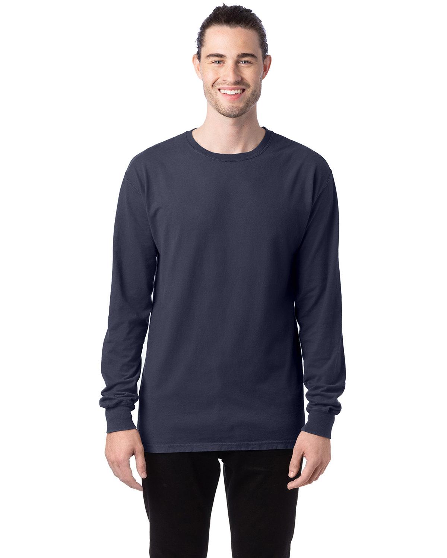 ComfortWash by Hanes Unisex 5.5 oz., 100% Ringspun Cotton Garment-Dyed Long-Sleeve T-Shirt ANCHOR SLATE