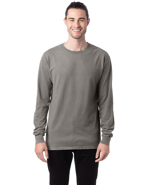 ComfortWash by Hanes Unisex 5.5 oz., 100% Ringspun Cotton Garment-Dyed Long-Sleeve T-Shirt CONCRETE