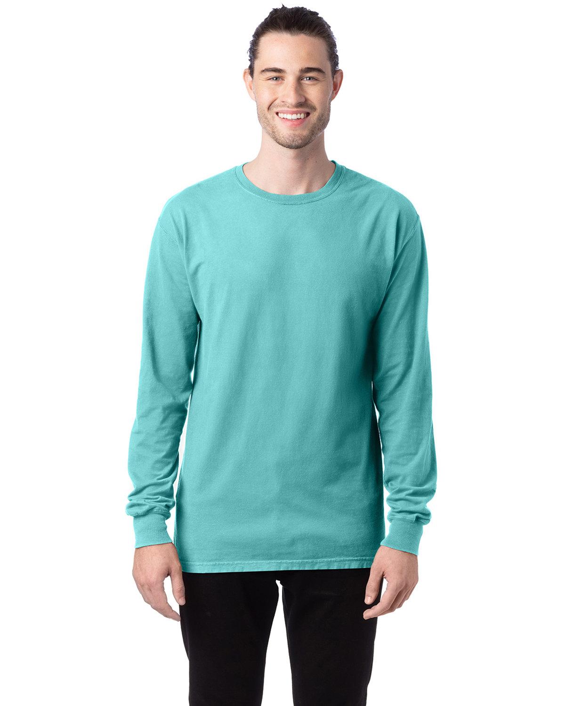 ComfortWash by Hanes Unisex 5.5 oz., 100% Ringspun Cotton Garment-Dyed Long-Sleeve T-Shirt MINT