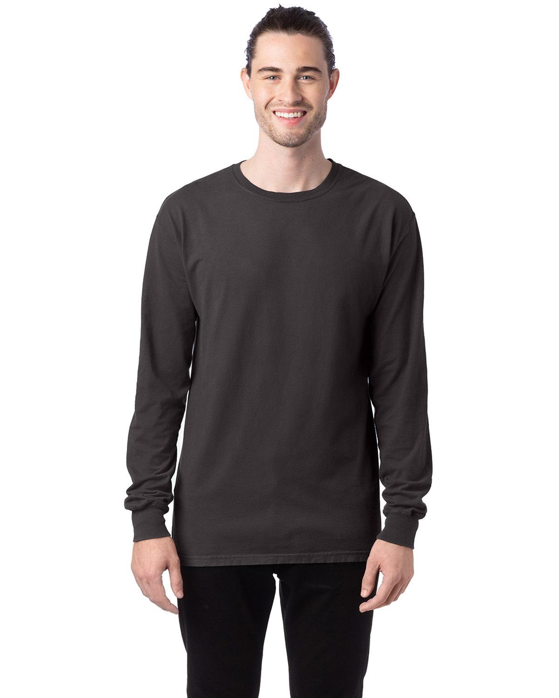 ComfortWash by Hanes Unisex 5.5 oz., 100% Ringspun Cotton Garment-Dyed Long-Sleeve T-Shirt NEW RAILROAD