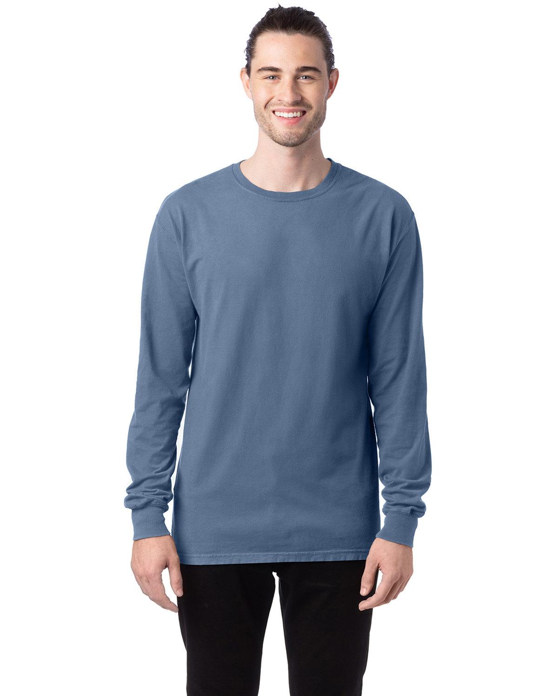 ComfortWash by Hanes Unisex 5.5 oz., 100% Ringspun Cotton Garment-Dyed Long-Sleeve T-Shirt SALTWATER