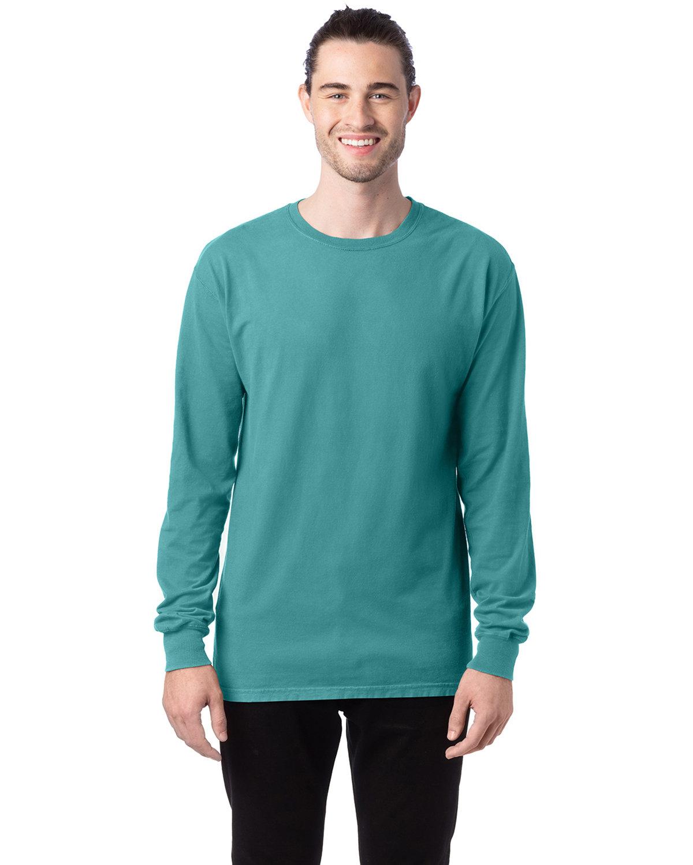 ComfortWash by Hanes Unisex 5.5 oz., 100% Ringspun Cotton Garment-Dyed Long-Sleeve T-Shirt SPANISH MOSS