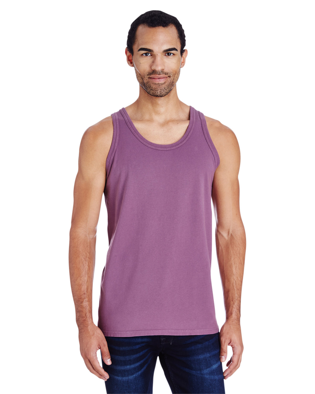ComfortWash by Hanes Unisex Garment-Dyed Tank PURPLE PLM RAISN