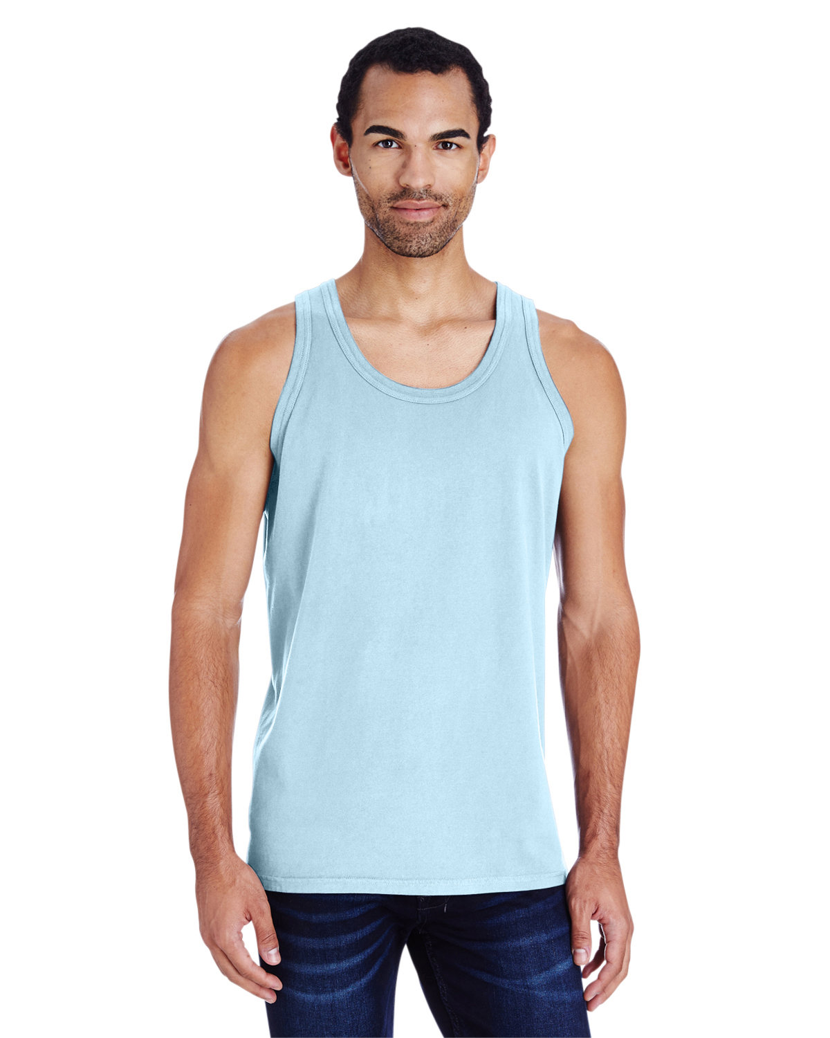 ComfortWash by Hanes Unisex Garment-Dyed Tank SOOTHING BLUE