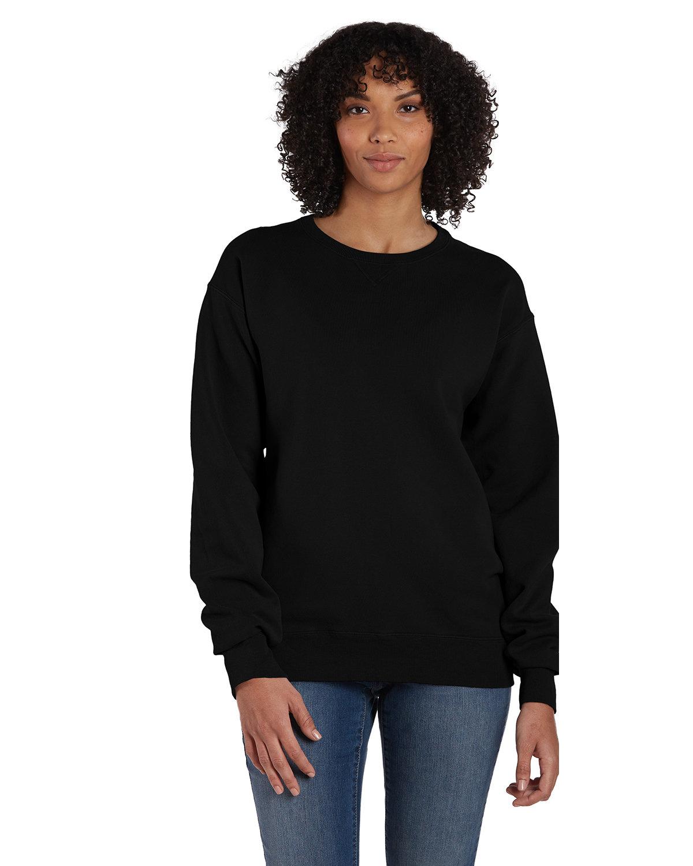 ComfortWash by Hanes Unisex 7.2 oz., 80/20 Crew Sweatshirt BLACK