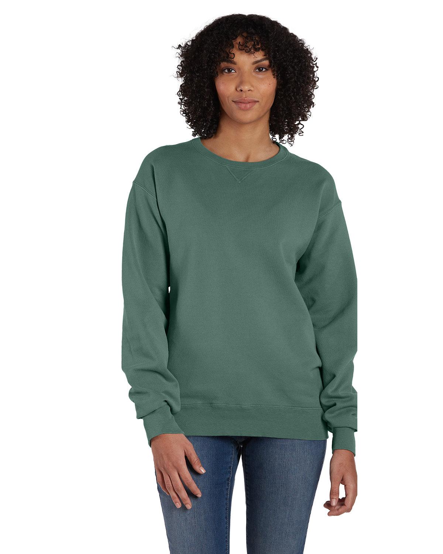 ComfortWash by Hanes Unisex 7.2 oz., 80/20 Crew Sweatshirt CYPRESS GREEN