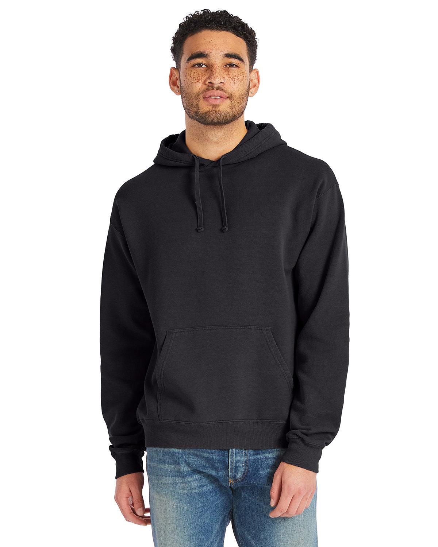 ComfortWash by Hanes Unisex Pullover Hooded Sweatshirt BLACK