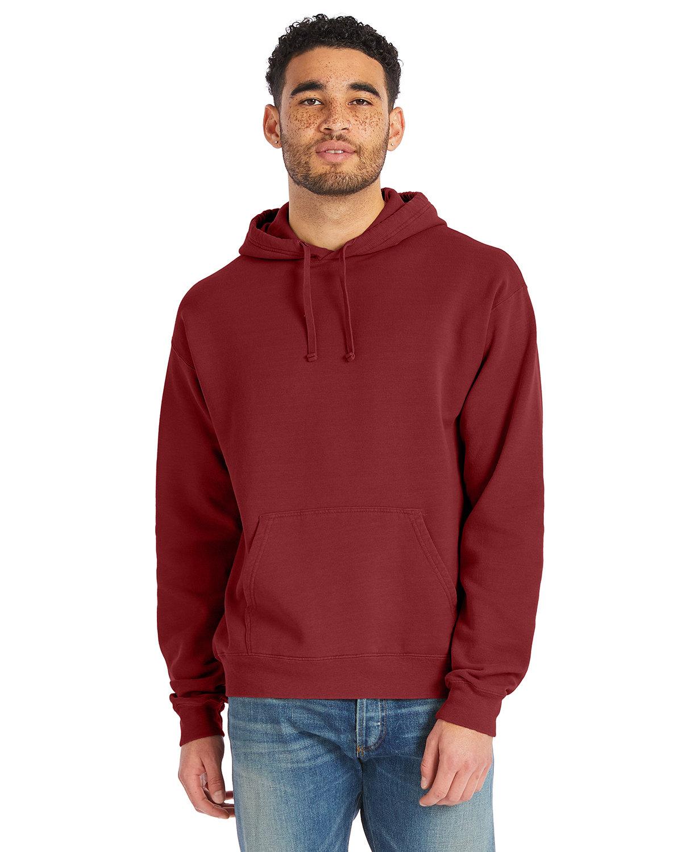 ComfortWash by Hanes Unisex Pullover Hooded Sweatshirt CAYENNE