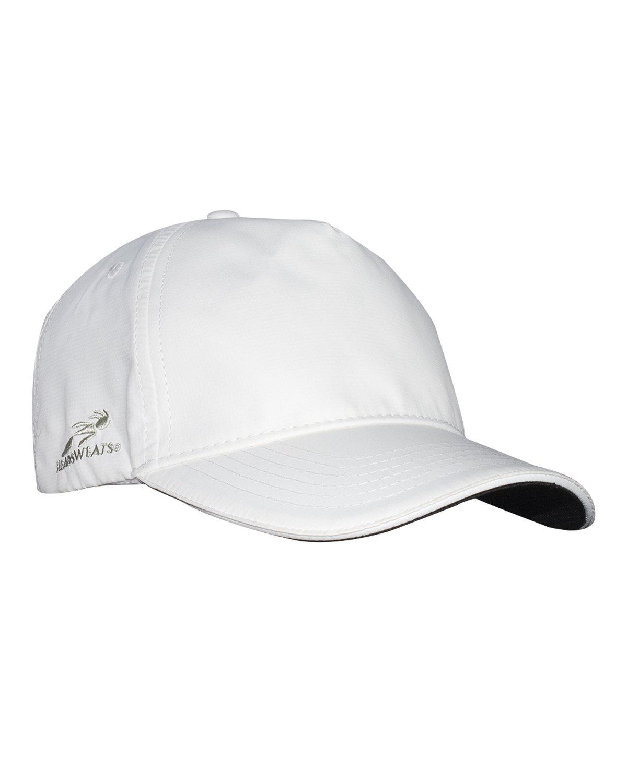 Headsweats Unisex Woven 5-Panel Podium Hat WHITE