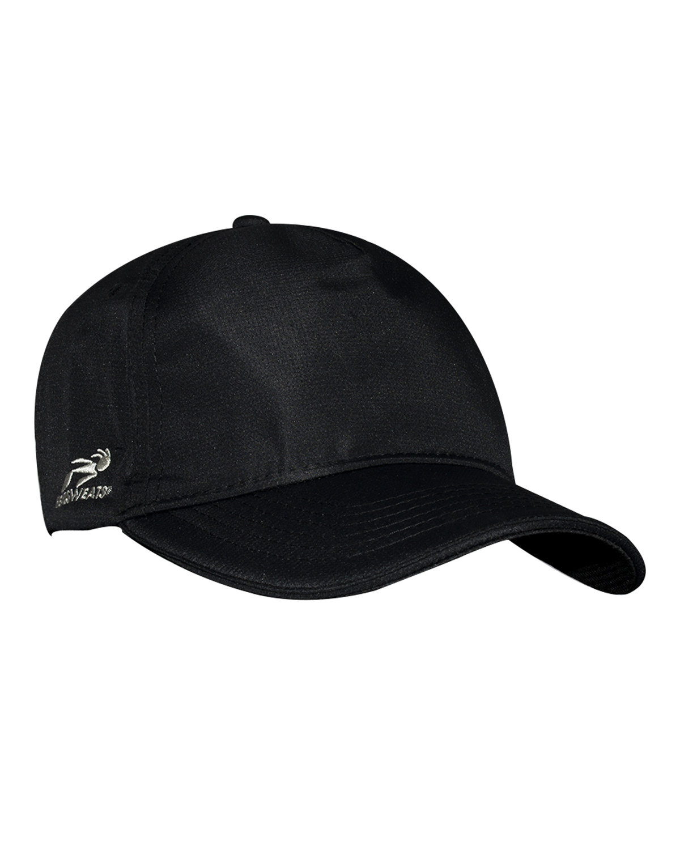 Headsweats Unisex Woven 5-Panel Podium Hat BLACK