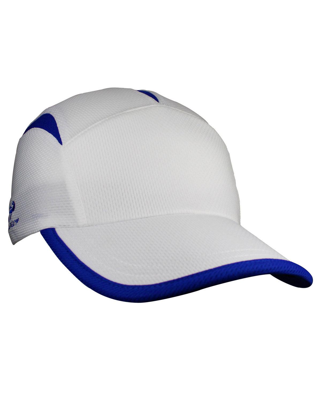 Headsweats Unisex Knit Go Hat WHITE/ ROYAL