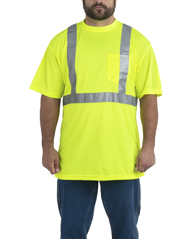Berne Men's Hi-Vis Class 2 Performance Pocket T-Shirt YELLOW