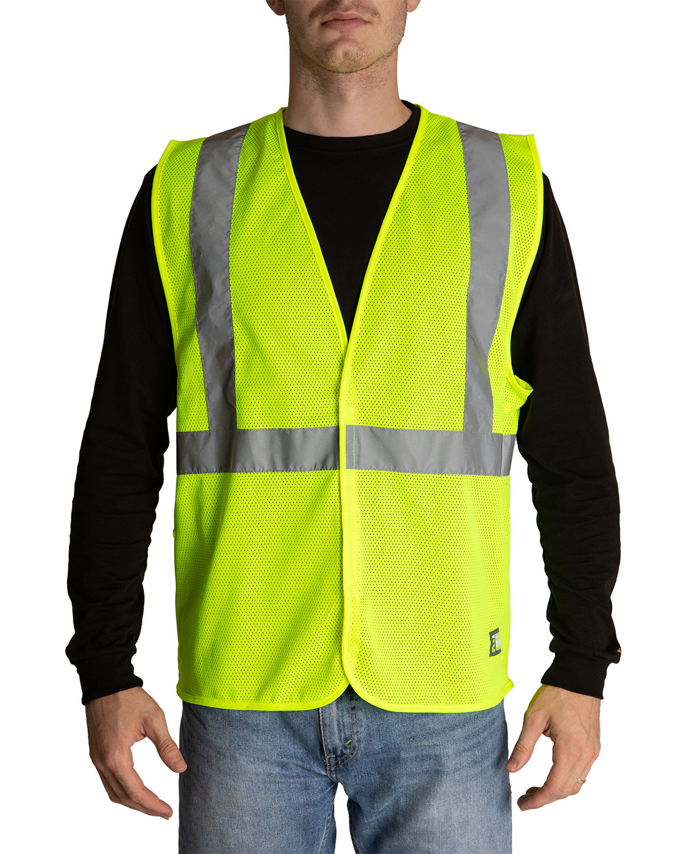 Berne Adult Hi-Vis Class 2 Economy Vest YELLOW