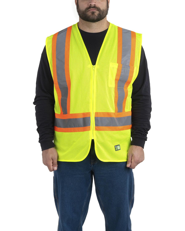 Berne Adult Hi-Vis Class 2 Multi-Color Vest YELLOW
