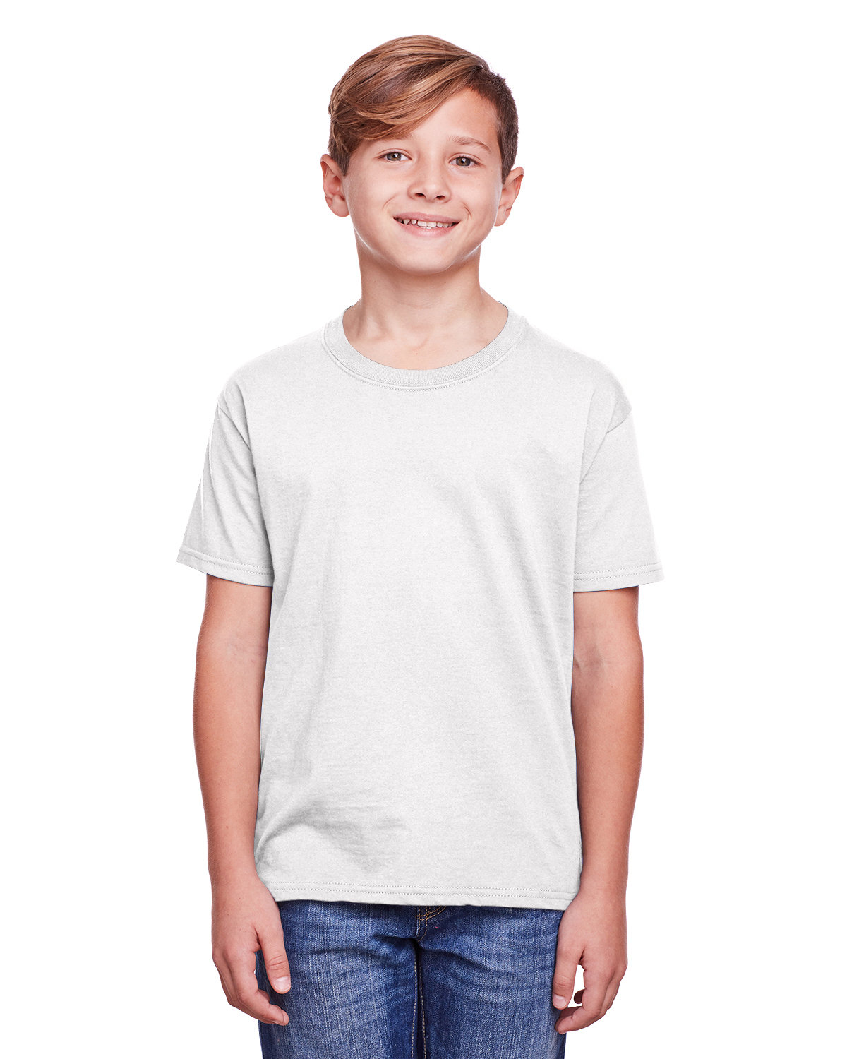 Fruit of the Loom Youth ICONIC™ T-Shirt WHITE