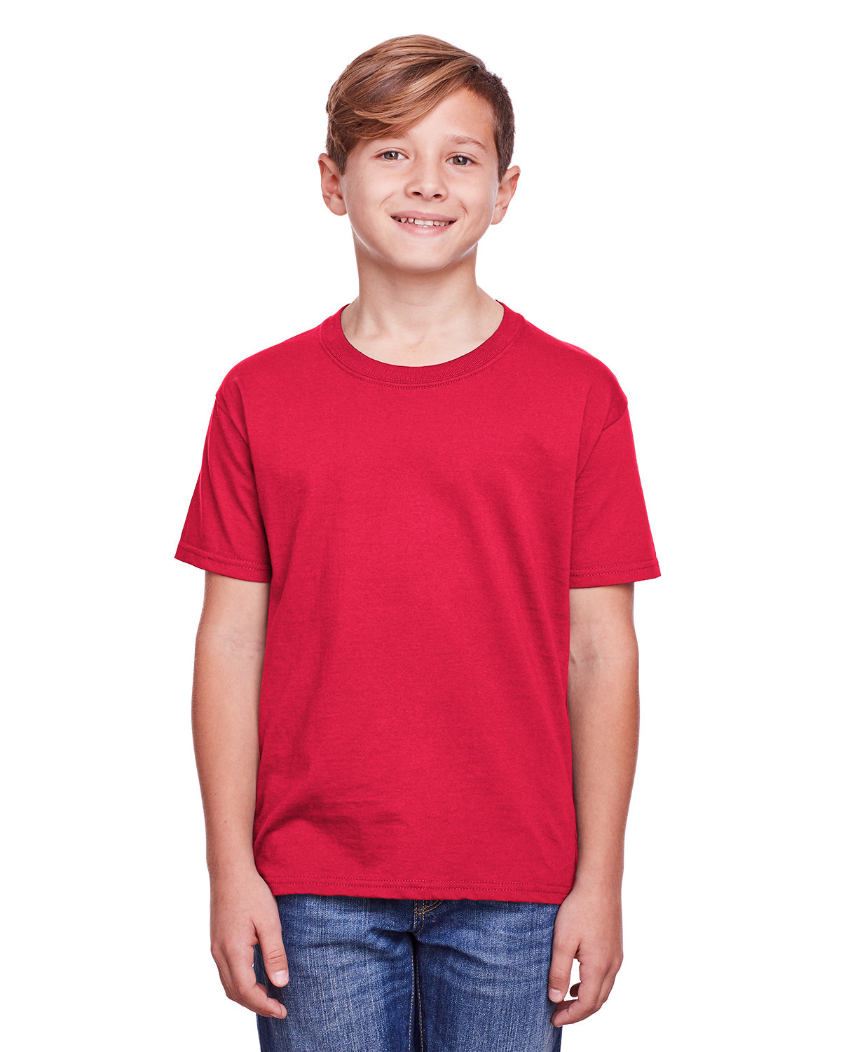Fruit of the Loom Youth ICONIC™ T-Shirt TRUE RED