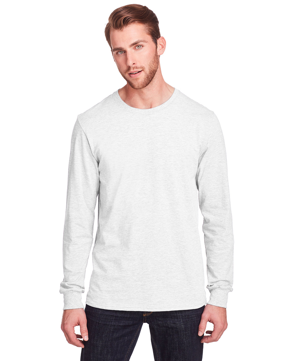 Fruit of the Loom Adult ICONIC™ Long Sleeve T-Shirt WHITE