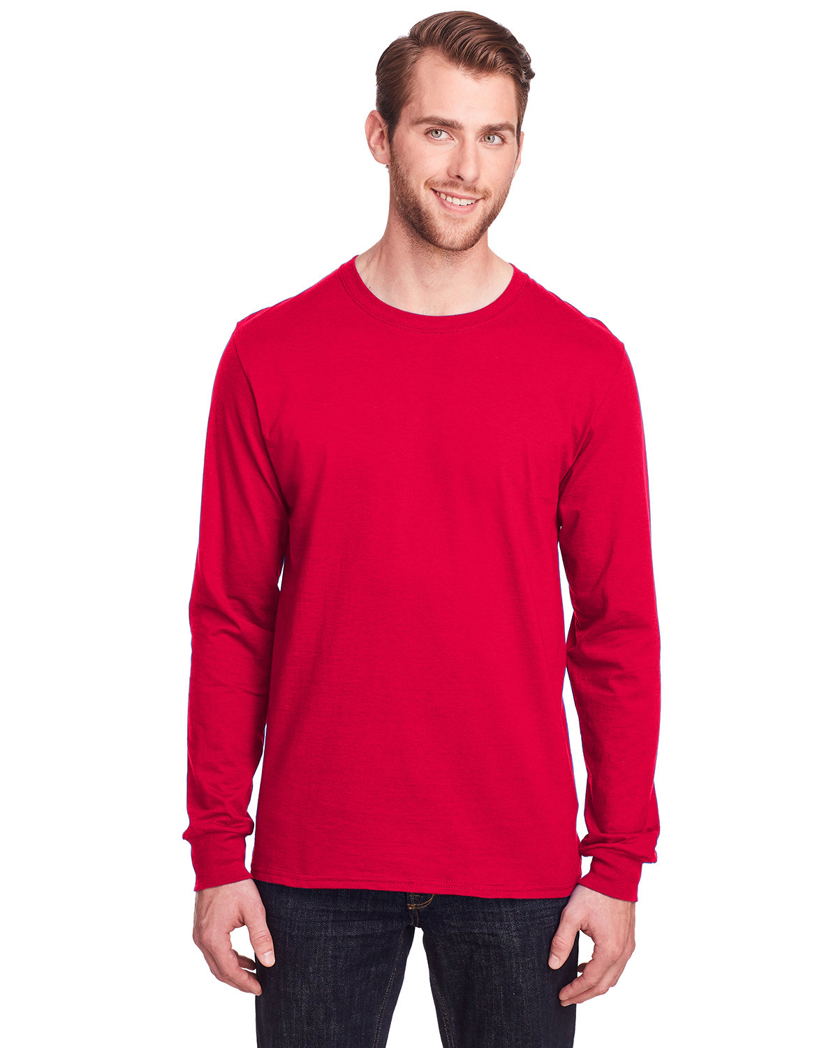 Fruit of the Loom Adult ICONIC™ Long Sleeve T-Shirt TRUE RED
