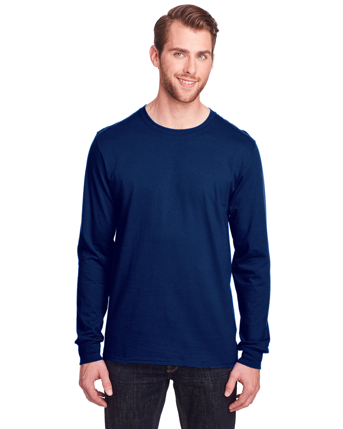 Fruit of the Loom Adult ICONIC™ Long Sleeve T-Shirt J NAVY