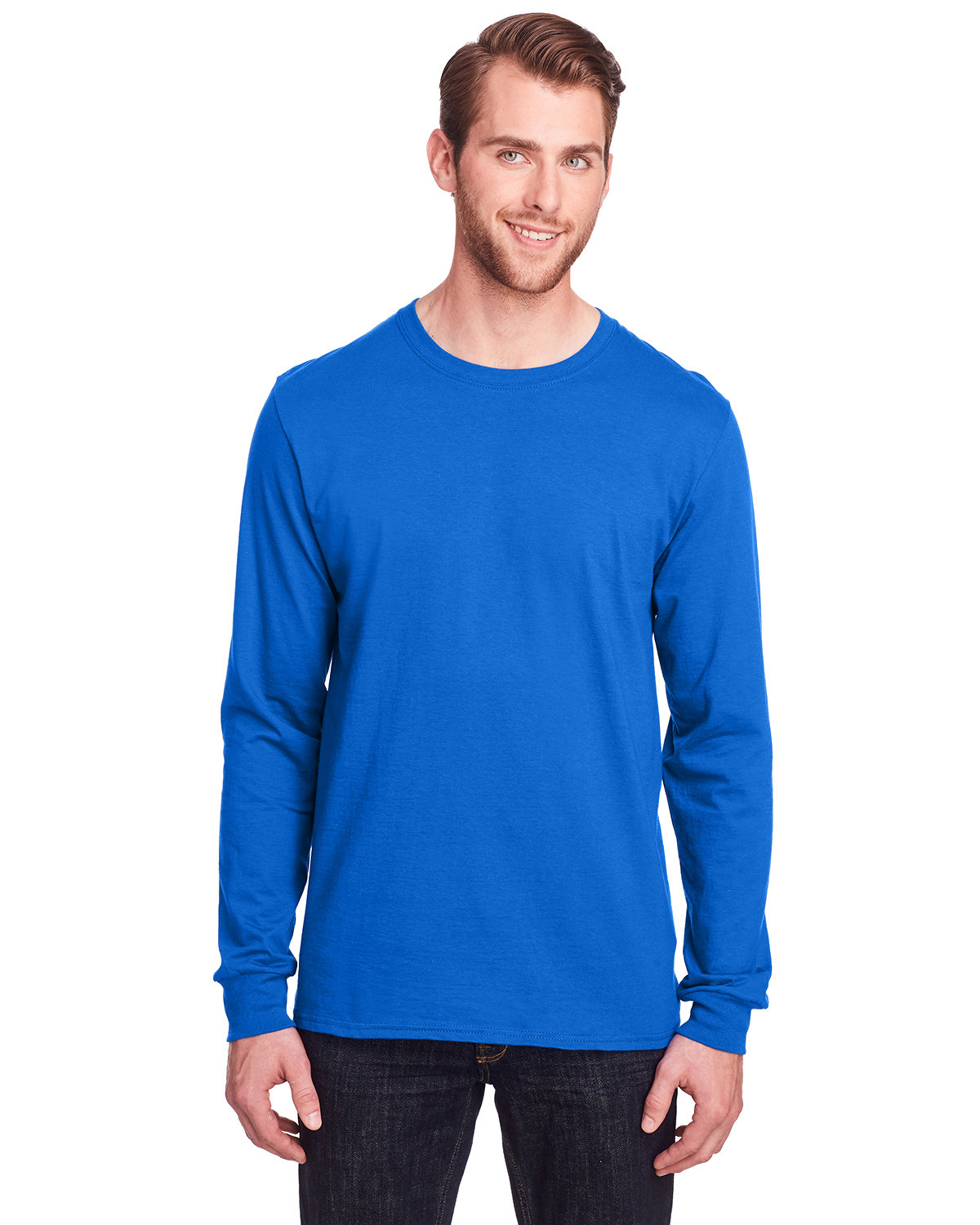 Fruit of the Loom Adult ICONIC™ Long Sleeve T-Shirt ROYAL