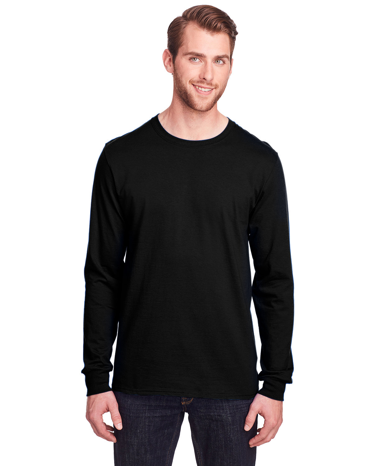 Fruit of the Loom Adult ICONIC™ Long Sleeve T-Shirt BLACK INK