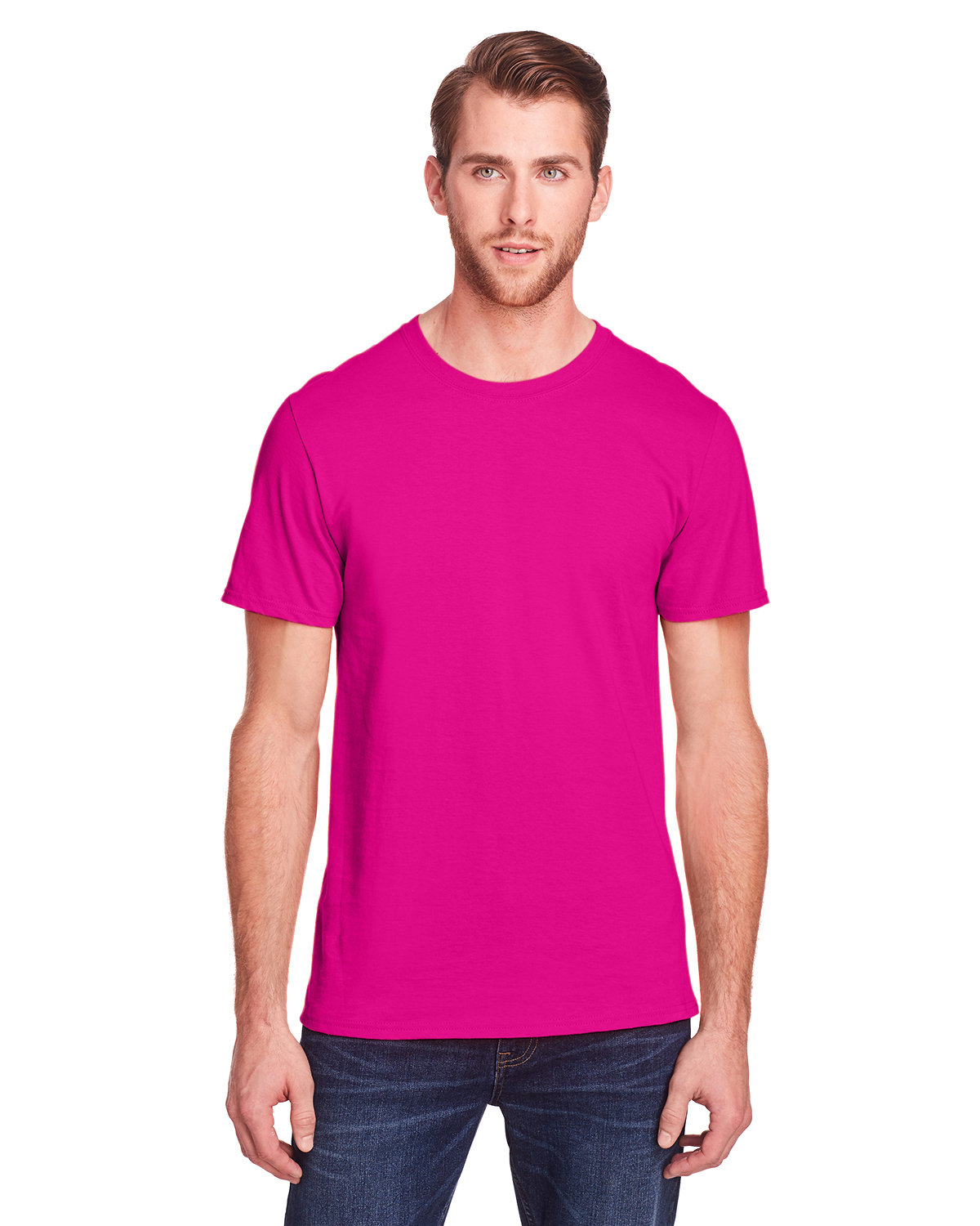 Fruit of the Loom Adult ICONIC™ T-Shirt CYBER PINK