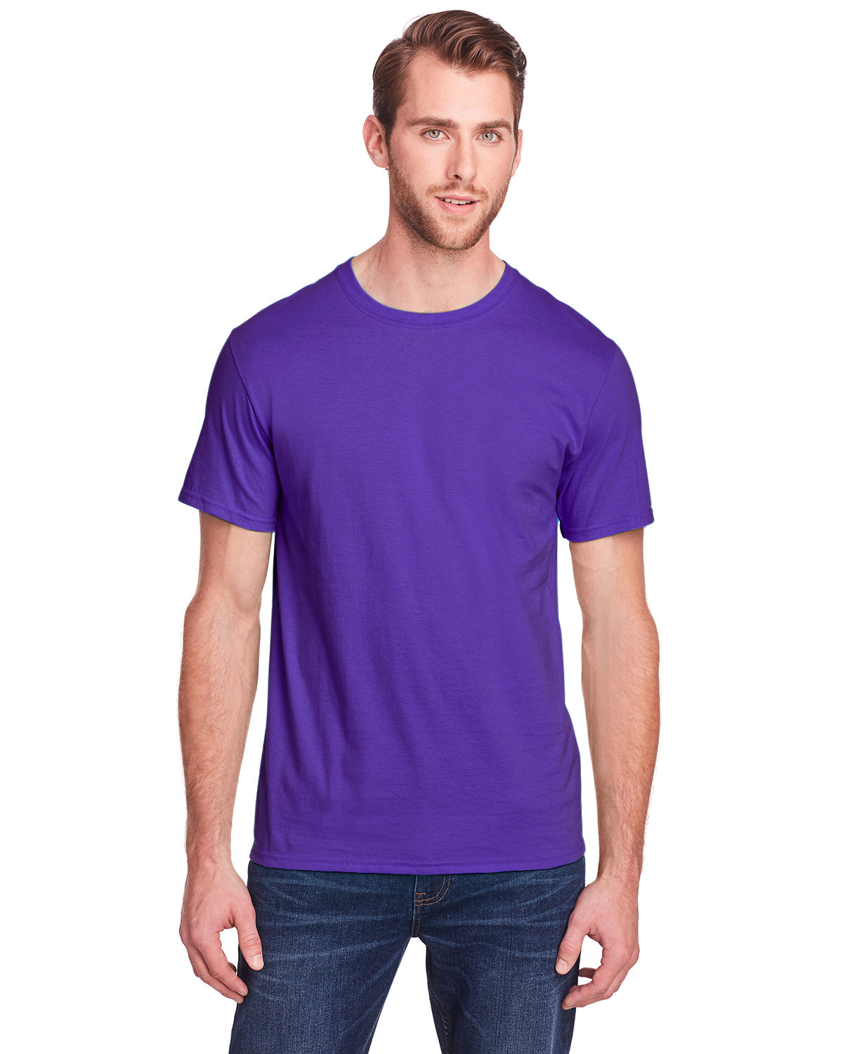 Fruit of the Loom Adult ICONIC™ T-Shirt PURPLE