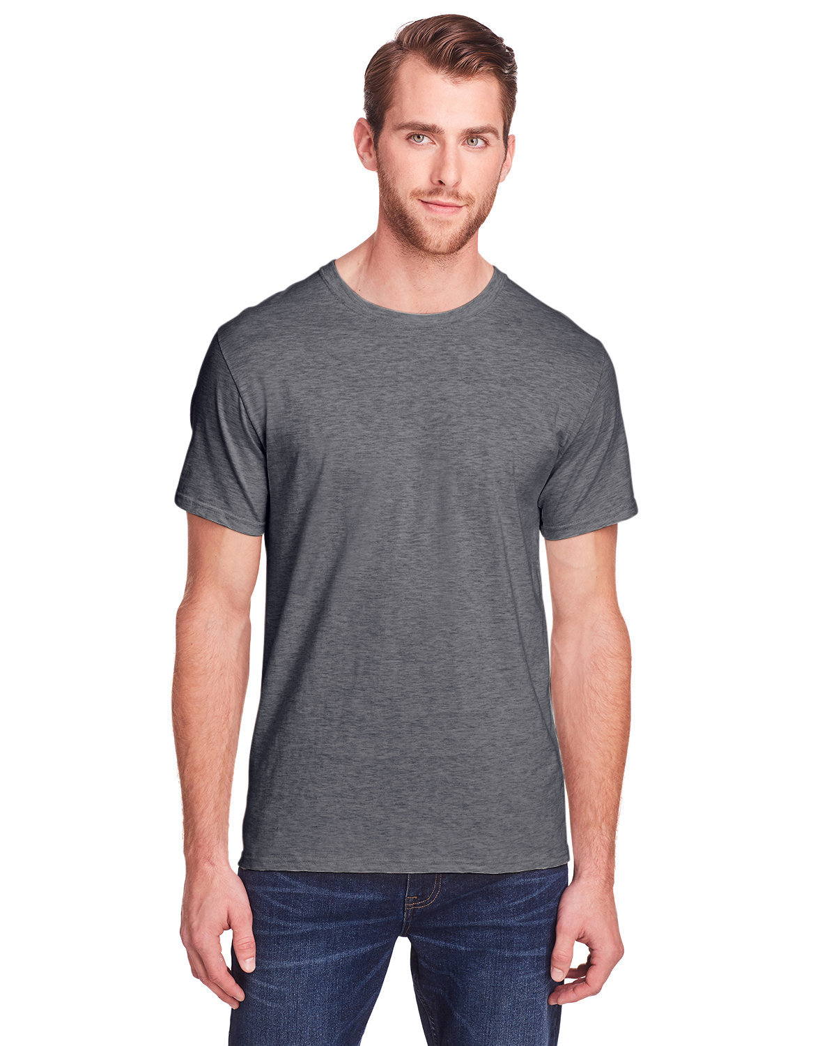 Fruit of the Loom Adult ICONIC™ T-Shirt CHARCOAL HEATHER