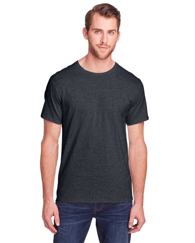 Fruit of the Loom Adult ICONIC™ T-Shirt BLACK INK HEATHR