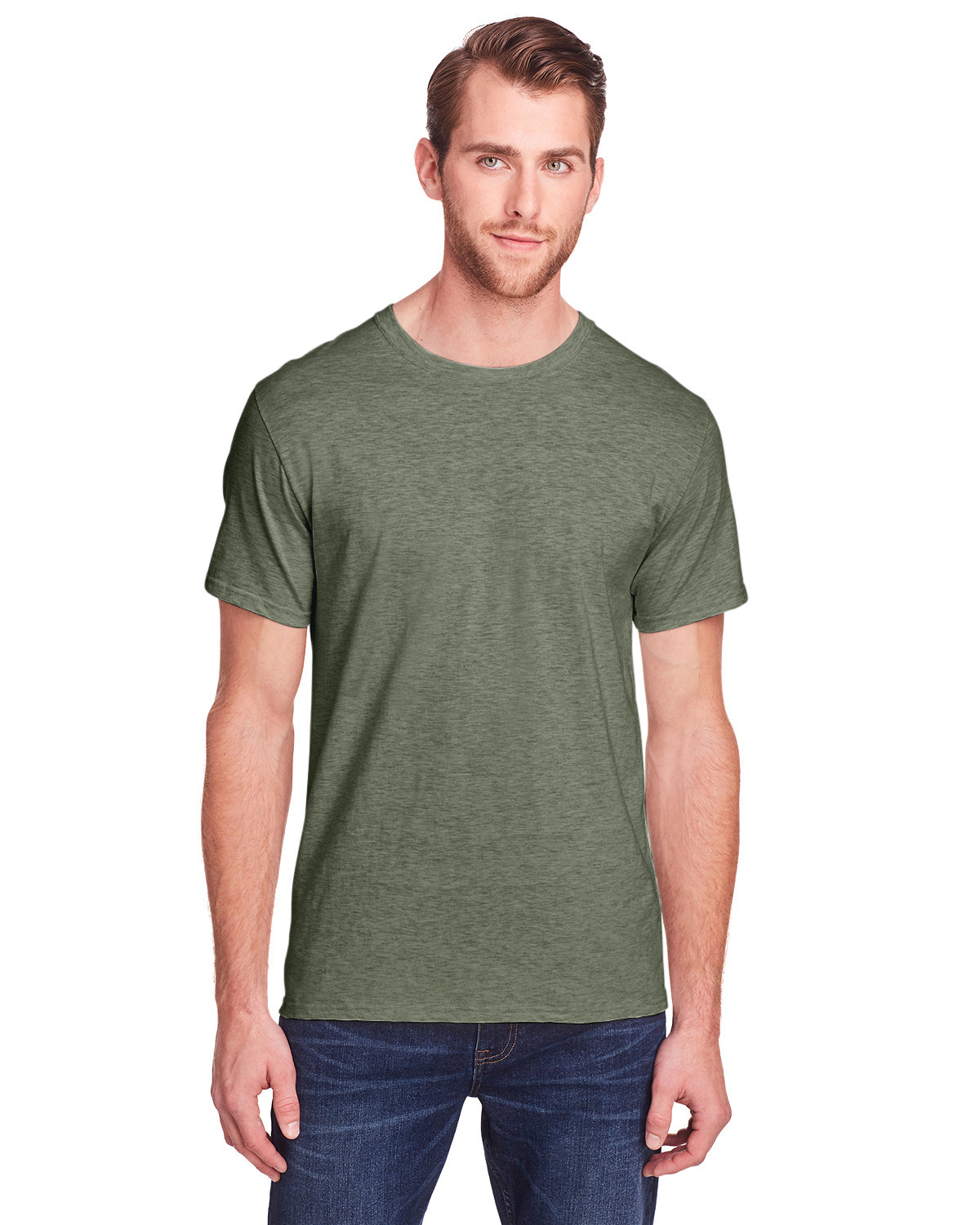 Fruit of the Loom Adult ICONIC™ T-Shirt MILITARY GRN HTH
