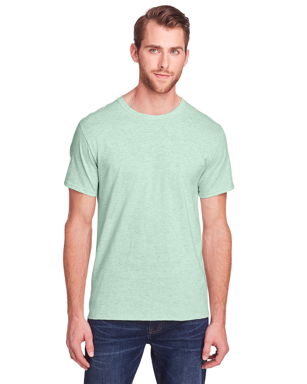 Fruit of the Loom Adult ICONIC™ T-Shirt MINT TO BE HTHR