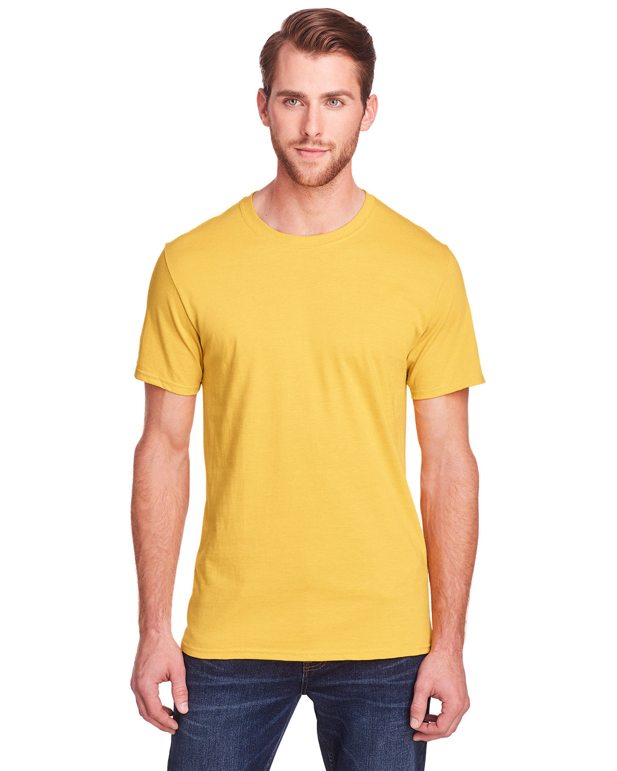 Fruit of the Loom Adult ICONIC™ T-Shirt MUSTARD HEATHER