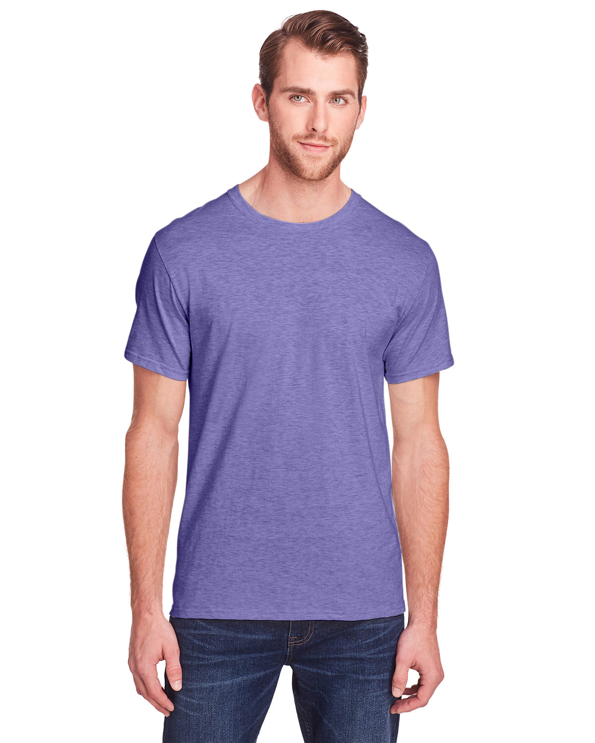 Fruit of the Loom Adult ICONIC™ T-Shirt RETRO HTH PURPLE
