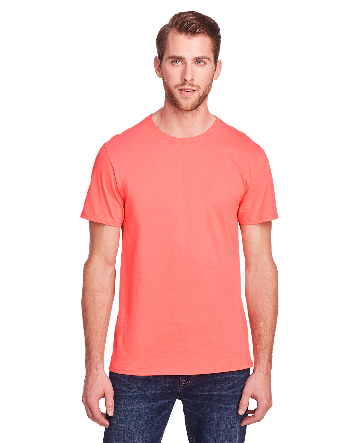 Fruit of the Loom Adult ICONIC™ T-Shirt SUNSET CORAL