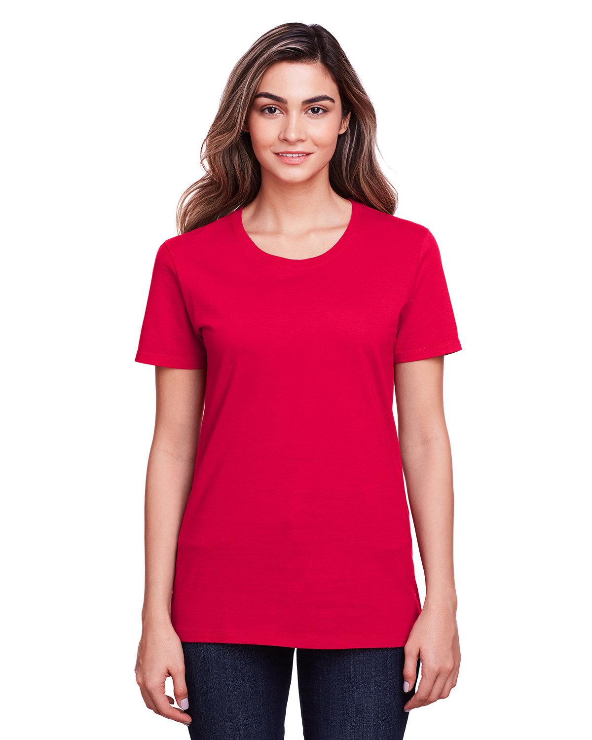 Fruit of the Loom Ladies' ICONIC™ T-Shirt TRUE RED
