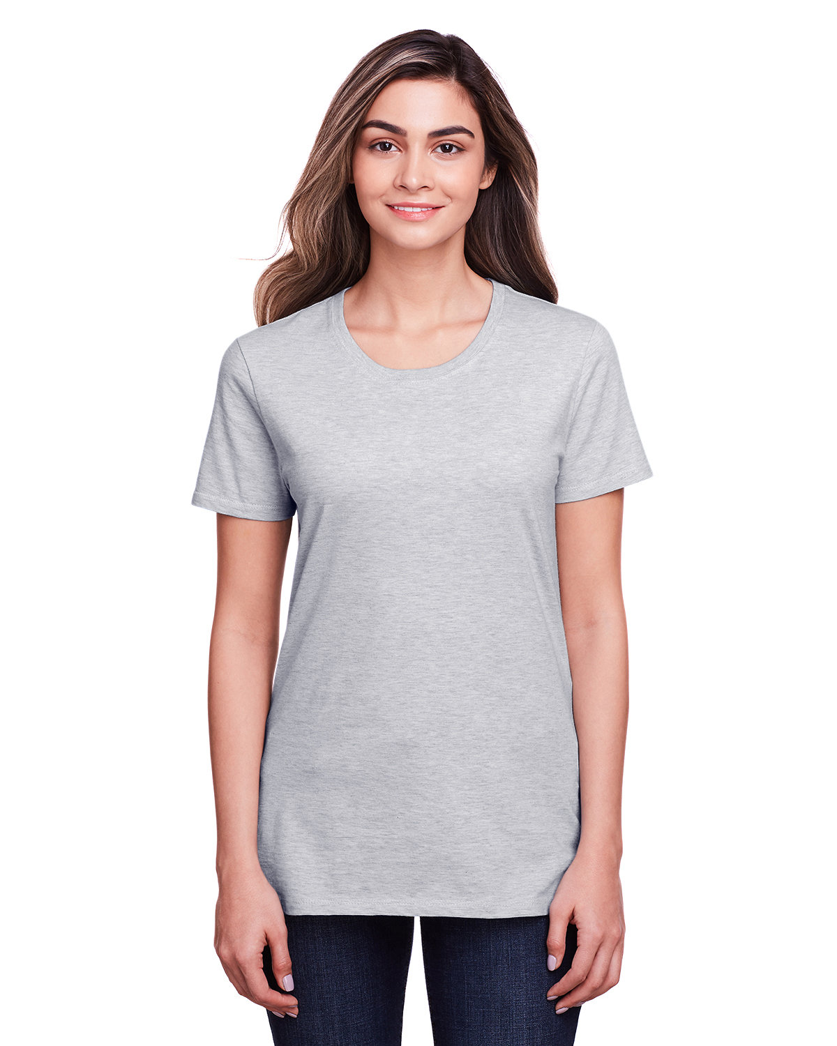 Fruit of the Loom Ladies' ICONIC™ T-Shirt ATHLETIC HEATHER
