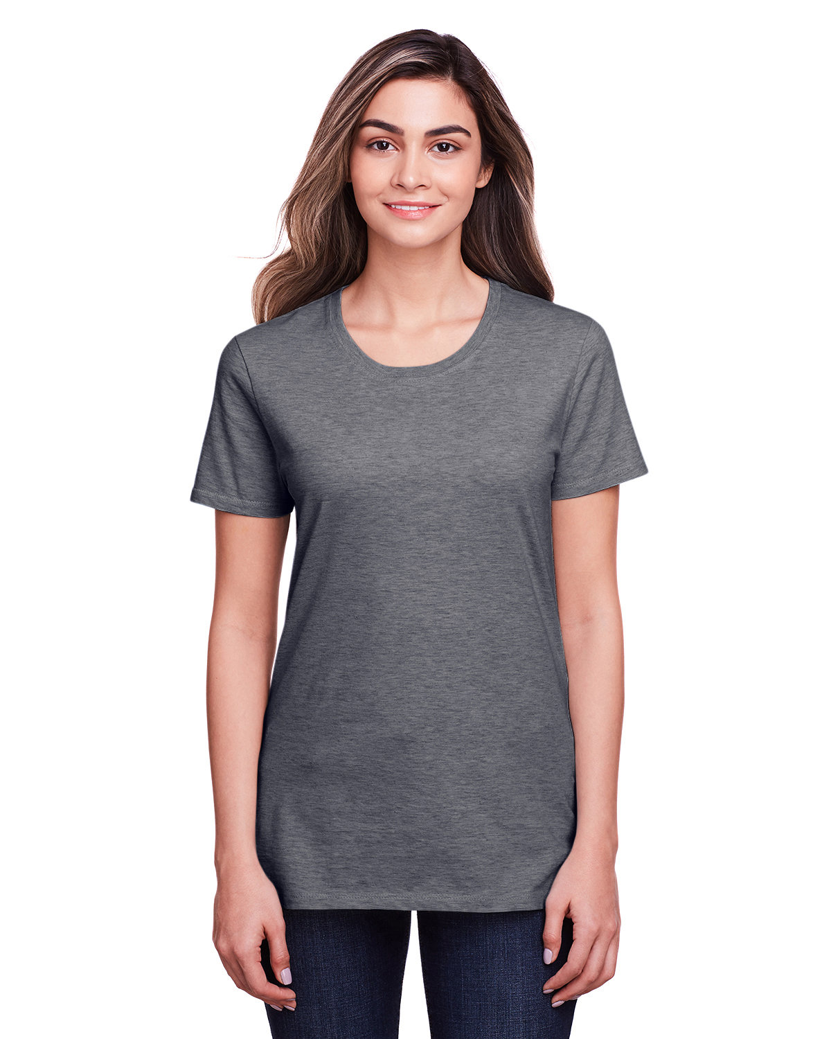 Fruit of the Loom Ladies' ICONIC™ T-Shirt CHARCOAL HEATHER