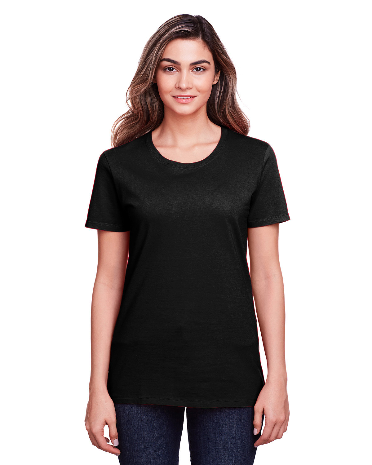 Fruit of the Loom Ladies' ICONIC™ T-Shirt BLACK INK