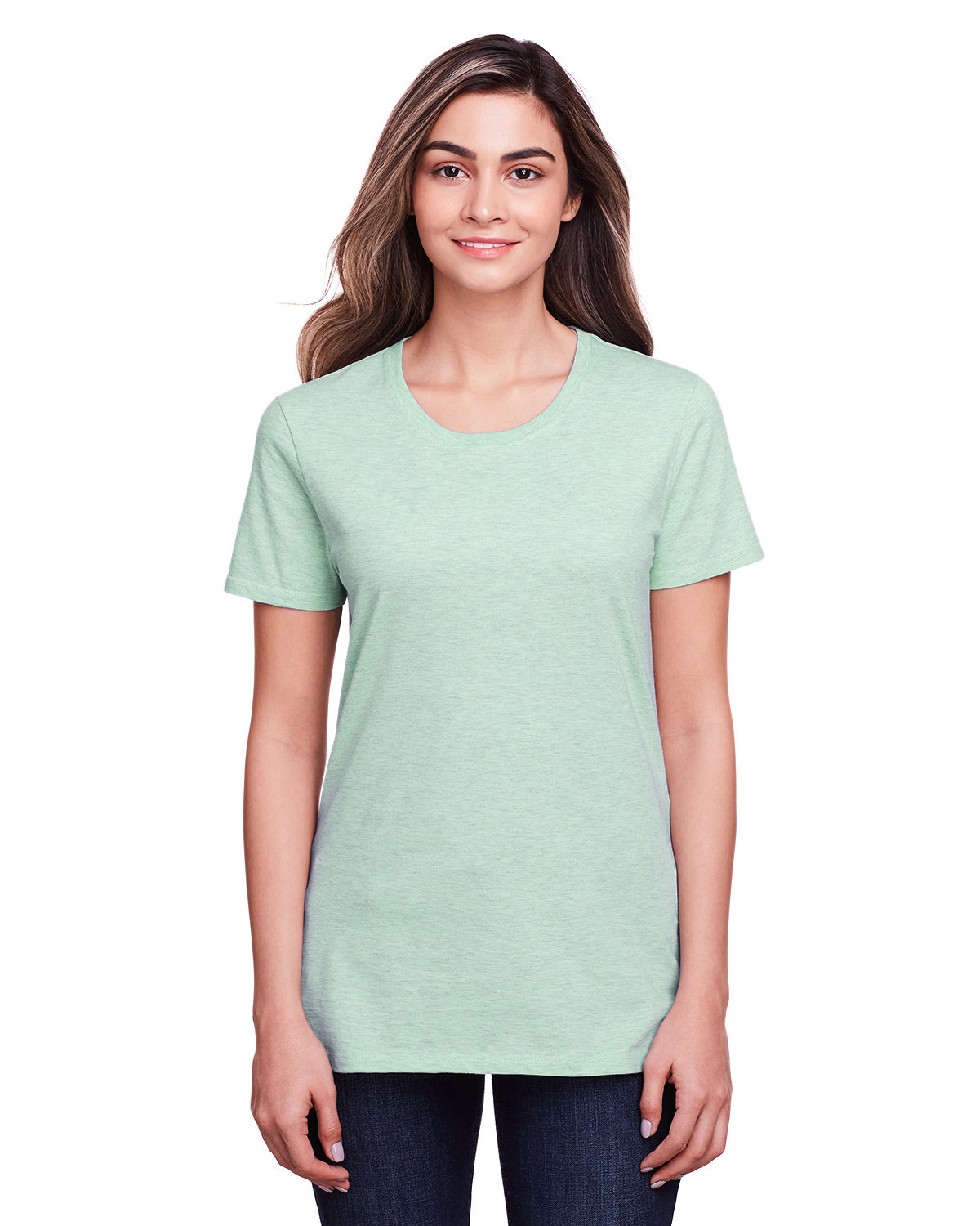 Fruit of the Loom Ladies' ICONIC™ T-Shirt MINT TO BE HTHR