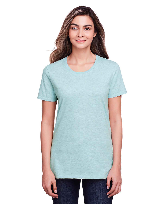 Fruit of the Loom Ladies' ICONIC™ T-Shirt AQUA VELVET HTHR