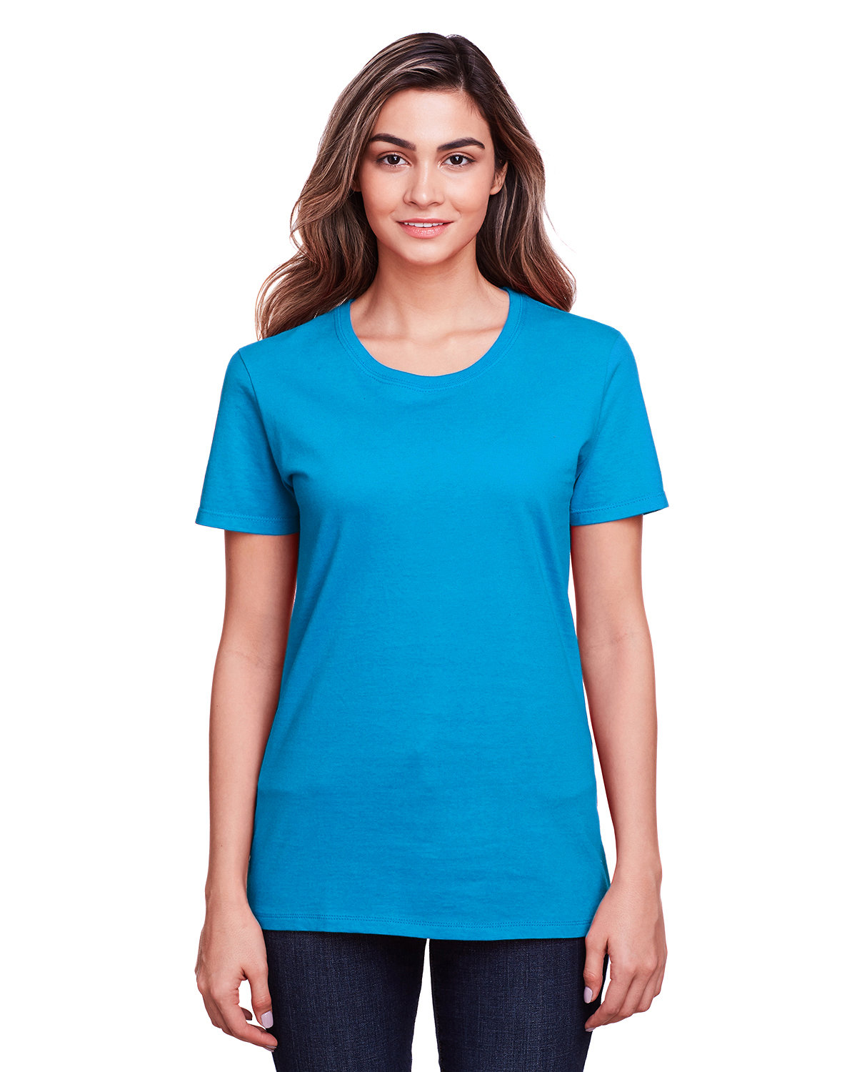 Fruit of the Loom Ladies' ICONIC™ T-Shirt PACIFIC BLUE