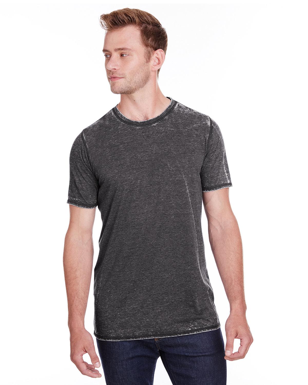 J America Adult Vintage Zen Jersey T-Shirt DARK SMOKE